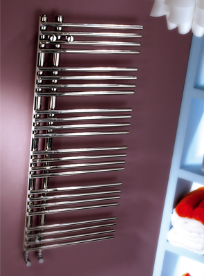 MHS Comb 500 x 1200mm Stainless Steel Dual Fuel Heated Towel Rail
