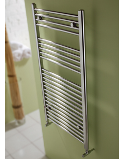 More info MHS Space 450 x 770mm Straight Heated Towel Rail Chrome