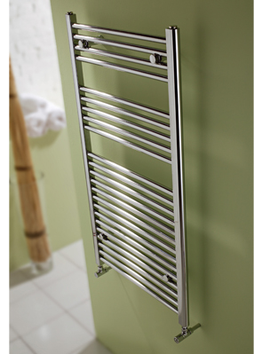 MHS Space Straight Dual Fuel Adjustable Towel Rail Chrome 450 x 1200mm