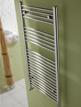 MHS Space 600 x 770mm Straight Heated Towel Rail Chrome
