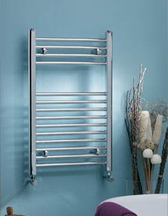 More info MHS Scarletta Straight Towel Rail 600 x 1800mm Chrome Dual Fuel