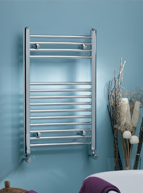 MHS Scarletta Straight Towel Rail 600 x 1000mm Chrome Dual Fuel