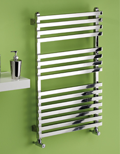 More info MHS Square 500 x 800mm Polished Stainless Steel Heated Towel Rail