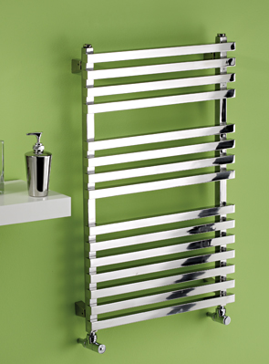 MHS Square 500 x 1200mm Polished Stainless Steel Heated Towel Rail