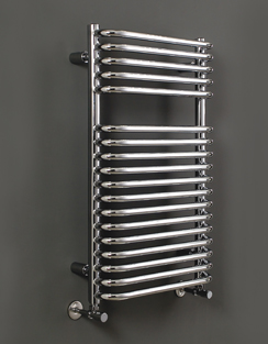 More info Phoenix Crysta 500 x 800mm Designer Heated Towel Rail