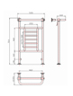 Phoenix Catherine 535 x 914mm Traditional Style Heated Towel Rail