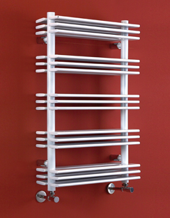 More info Phoenix Jade 500 x 800mm White Designer Heated Towel Rail