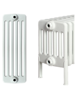 Related Apollo Roma 6 Column 25 Section White Radiator With Feet 1200 x 300mm