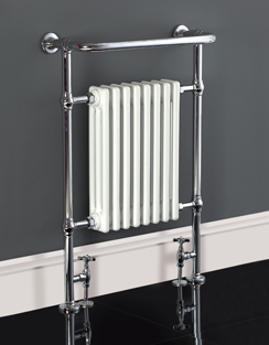 More info Phoenix York 659 x 952mm Traditional Style Heated Towel Rail