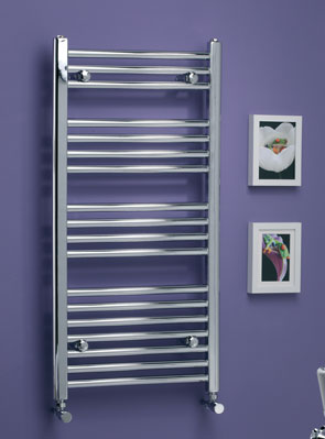 MHS Scarletta Bow Electric Only Towel Rail 400 x 1800mm Chrome
