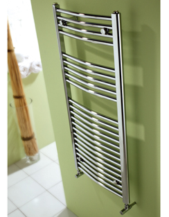 Related MHS Space Bow Dual Fuel Adjustable Towel Rail Chrome 600 x 1200mm