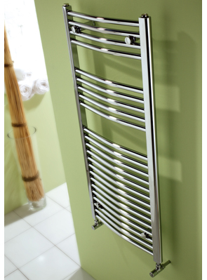 MHS Space Bow Electric Adjustable Towel Rail Chrome 600 x 770mm