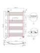 Phoenix Gina Curved 500 x 800mm Chrome Heated Towel Rail