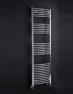 More info Phoenix Gina Curved 600 x 1500mm Chrome Heated Towel Rail