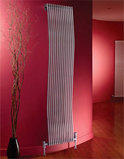 More info Apollo Rimini Wave Single Tube On Tube White Radiator 300 x 1800mm