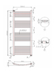 Phoenix Gina Curved 500 x 1200mm Chrome Heated Towel Rail