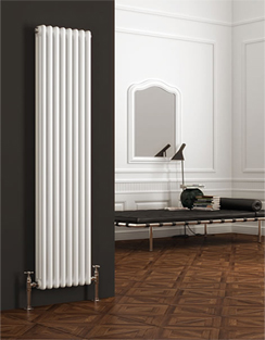 More info Reina Colona White 3 Column Vertical Radiator 290 x 1800mm