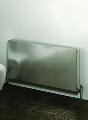 Reina Panox Brushed Stainless Steel Designer Radiator 400 x 600mm