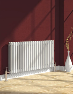 More info Reina Colona White 4 Column Horizontal Radiator 1010 x 300mm