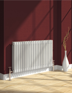 More info Reina Colona White 4 Column Horizontal Radiator 605 x 500mm