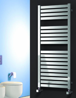 More info Reina Aosta Satin Stainless Steel Designer Radiator 530 x 835mm