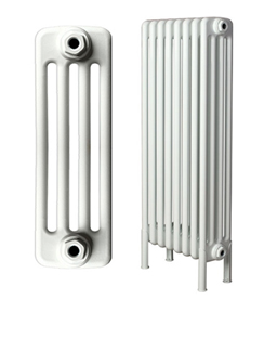 More info Apollo Roma Freestanding 4 Column White Radiator 1000 x 1000mm