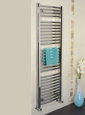 Apollo Napoli Curved Towel Rail 600 x 700mm White