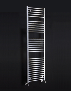 More info Phoenix Flavia Straight 500 x 800mm White Heated Towel Rail