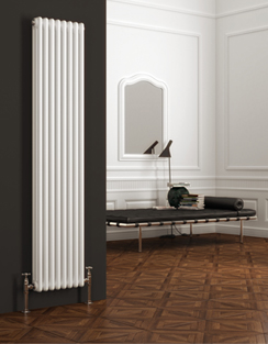 More info Reina Colona White 3 Column Vertical Radiator 200 x 1800mm