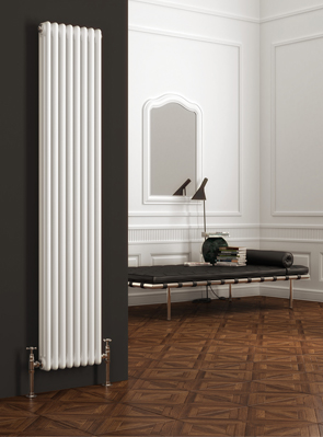 Reina Colona White 3 Column Vertical Radiator 200 x 1800mm