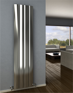 More info Reina Aleo Polished Aluminium Vertical Radiator 280 x 1800mm