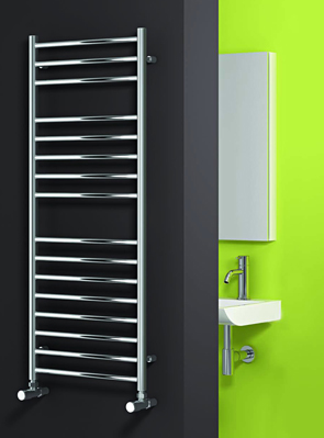 Reina Luna Polished Stainless Steel Flat Radiator 600 x 430mm