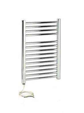 Apollo Napoli Sealed Electric Straight Towel Rail 600 x 700mm Chrome