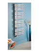 Apollo Genova Offset Brushed Stainless Steel Towel Warmer 500 x 1000mm