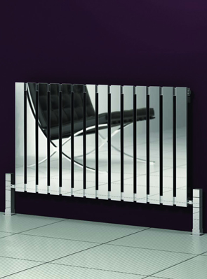 Reina Calix Polished Stainless Steel Designer Radiator 660 x 600mm