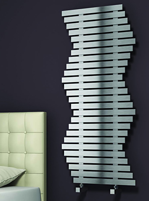 Reina Wave 600 x 1290mm Brushed Stainless Steel Radiator