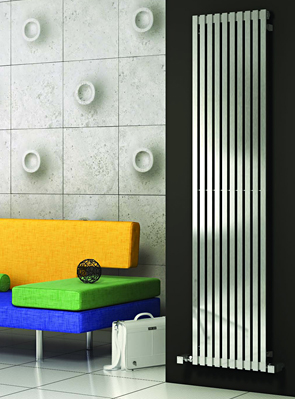 Reina Xeina Satin Finish Stainless Steel Radiator 245 x 1800mm
