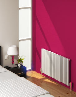 More info Reina Bonera White Designer Horizontal Radiator 588 x 550mm