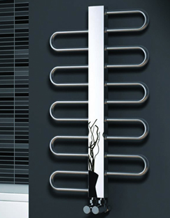 More info Reina Dynamic Satin Stainless Steel Designer Radiator 500 x 890mm