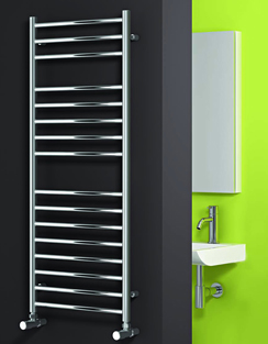 More info Reina Luna Polished Stainless Steel Flat Radiator 500 x 430mm