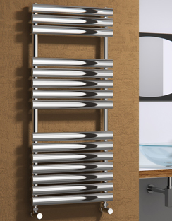 More info Reina Helin Polished Stainless Steel Designer Radiator 500 x 826mm