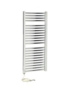 More info Apollo Napoli Sealed Electric Curved Towel Rail 500 x 1100mm White