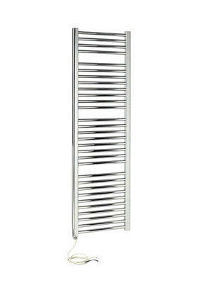 Apollo Napoli Sealed Electric Curved Towel Rail 600 x 1700mm Chrome