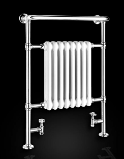 More info Reina Victoria 675 x 960mm Traditional Radiator Chrome And White