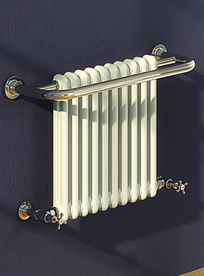 Reina Camden 743 x 493mm Traditional Radiator Chrome And White
