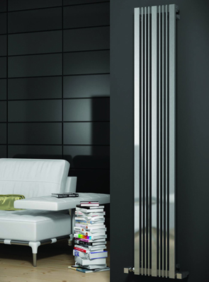Reina Karia Satin Stainless Steel Designer Radiator 300 x 1800mm