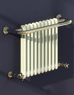 More info Reina Camden 625 x 493mm Traditional Radiator Chrome And White