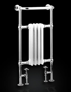 Related Reina Alicia Chrome And White Traditional Radiator 495 x 960mm