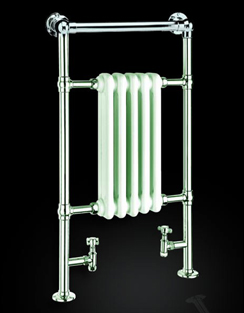 More info Reina Oxford 538 x 960mm Chrome Traditional Radiator