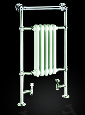 Reina Oxford 538 x 960mm Chrome Traditional Radiator